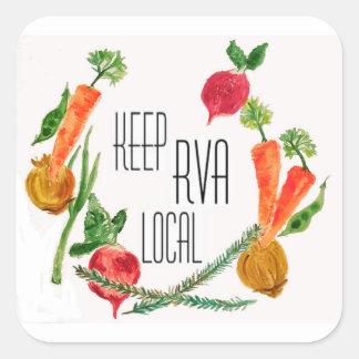 Gehen Sie Lokal-RVA Quadratischer Aufkleber