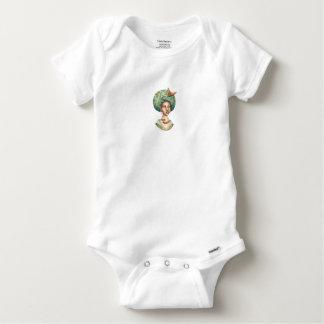 Gehen Sie mit für - Dame mit grüner Baby Strampler