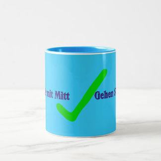 Gehen Sie MIT-Mitt [gehen Sie mit Mitt] Zweifarbige Tasse