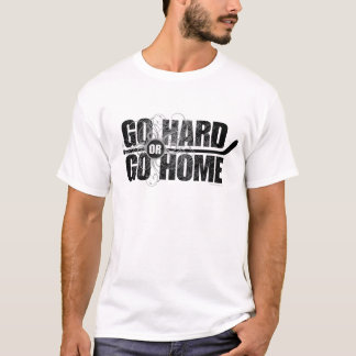Gehen Sie stark oder gehen Sie Zuhause (Hockey) T-Shirt