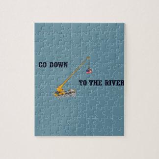 Gehen Sie unten zum Fluss Puzzle