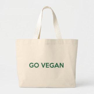 Gehen Sie vegan Jumbo Stoffbeutel