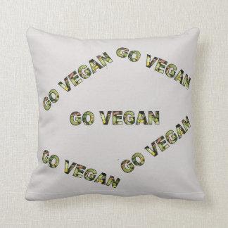 Gehen Sie vegan Kissen
