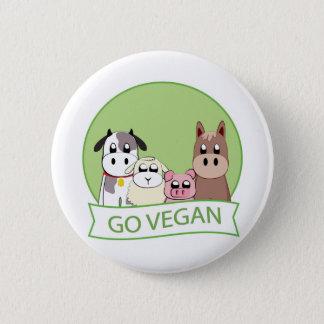 Gehen Sie vegan Runder Button 5,7 Cm