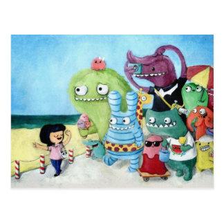 Gehen Sie voran! Monster-Team! Postkarte