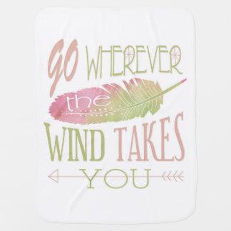 Gehen Sie, wohin der Wind Sie nimmt Puckdecke