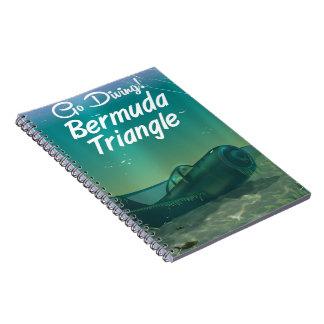 Gehen Sie zu tauchen! Bermuda-Dreieckreiseplakat Notizblock