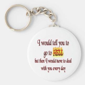 Gehen Sie zur Hölle Schlüsselanhänger