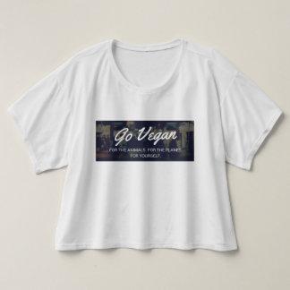 Gehen T-Shirt der Frauen sackartiger vegetarischer
