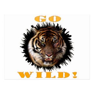 Gehen Tiger wilder Postkarte