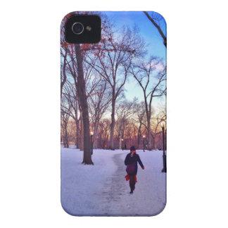 Gehen unter einen Winter-Sonnenuntergang iPhone 4 Case-Mate Hülle