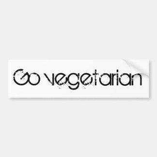 Gehen Vegetarier Autoaufkleber