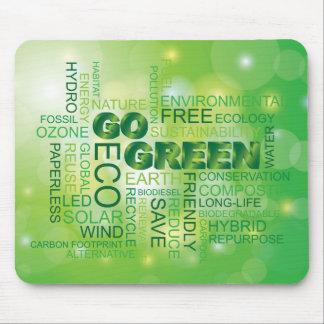 Gehen Wort-Wolke Mousepad grüne