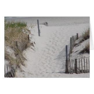 Gehen zum Strand Karte