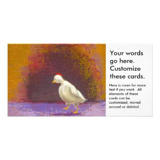 Gehende denkende einzigartige bunte Kunst des Bildkarte