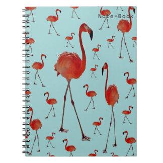 Gehende Flamingos Notizblock