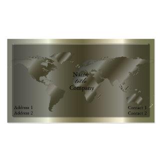 Gehende globale silver-Visitenkarte