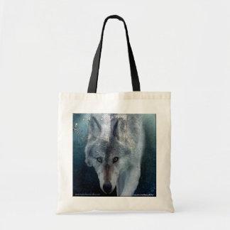 Gehende grauer Wolf Tragen-Tasche Sammlung Tragetasche