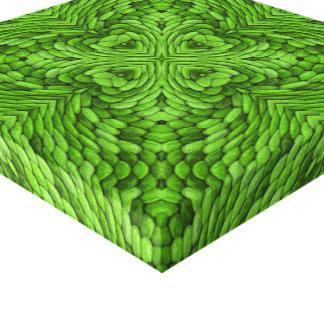 Gehende grünes Vintages Kaleidoskop eingewickelte Leinwanddruck