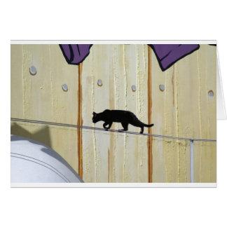 gehende Katze des Drahtseils Karte