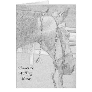 Gehende Pferdekarte Tennessees Karte