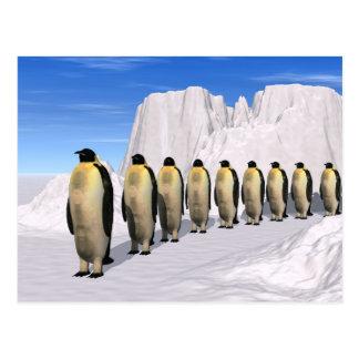 Gehende Pinguine Postkarte