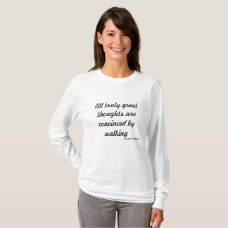 Gehende Reise ~Great Gedanken T-Shirt