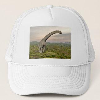 Gehender Brachiosaurusdinosaurier - 3D übertragen Truckerkappe