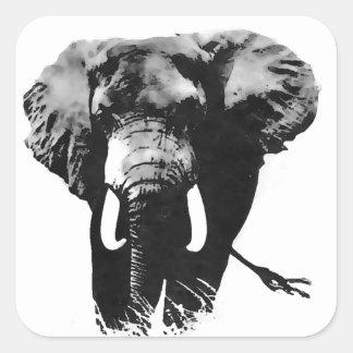 Gehender Elefant Quadratsticker