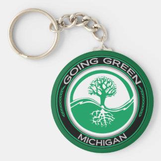 Gehender grüner Baum Michigan Schlüsselanhänger
