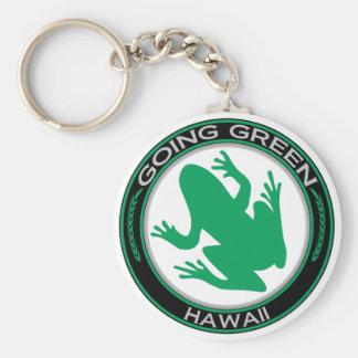 Gehender grüner Hawaii-Frosch Schlüsselbänder