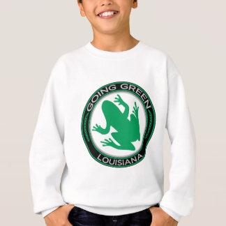 Gehender grüner Louisiana-Frosch Sweatshirt