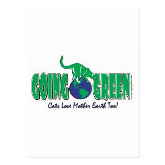 Gehender grüner Tag der Erde Postkarte