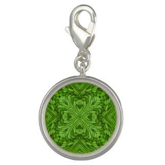 Gehender grüner Vintager Muster-Charme Foto Anhänger