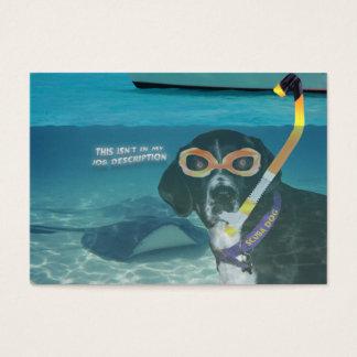 """Gehender Unterwasseratemgerät-Hund """"die Visitenkarte"""