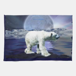 Gehendes Eisbär-Tier-Kunst-Küche Tee-Tuch Küchentuch