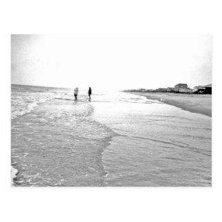 Gehendes fischenFoto in Schwarzem u. im Weiß Postkarte
