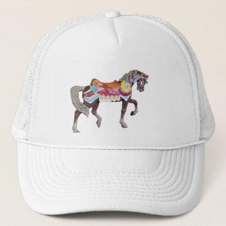Gehendes gemaltes Karussell-Pony Truckerkappe