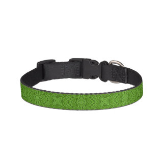 Gehendes Grün deckte Hundehalsbänder mit Ziegeln Haustierhalsband