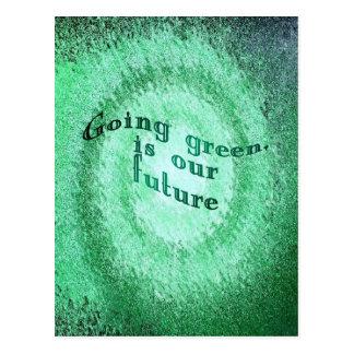 Gehendes Grün, ist unsere Zukunft, Postkarte