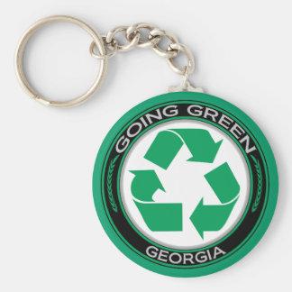 Gehendes Grün recyceln Georgia Schlüsselband