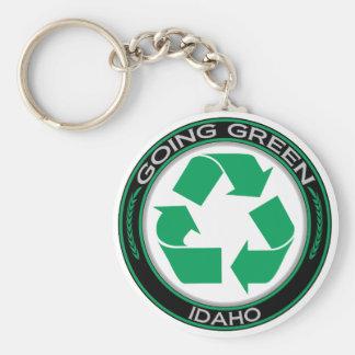 Gehendes Grün recyceln Idaho Schlüsselanhänger