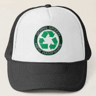Gehendes Grün recyceln New Hampshire Truckerkappe