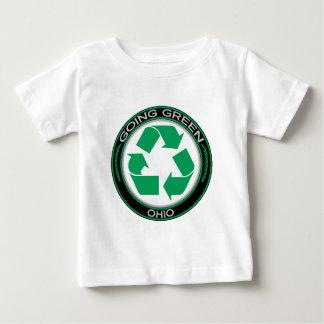 Gehendes Grün recyceln Ohio Baby T-shirt