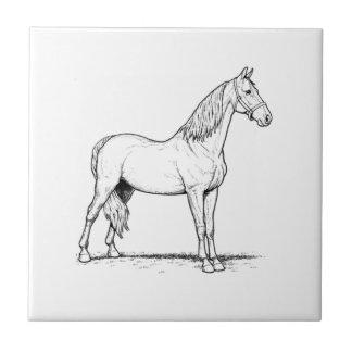 Gehendes Pferd Tennessees - stehend Fliese