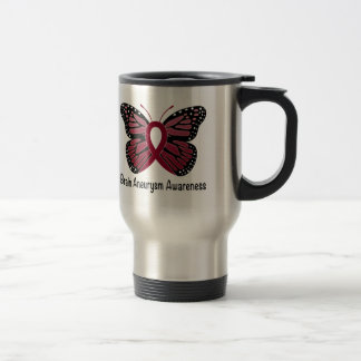 Gehirn-Aneurysma-Schmetterlings-Bewusstseins-Band Reisebecher