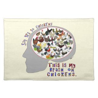 Gehirn auf Hühnern Tischset