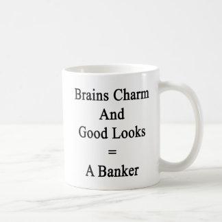 Gehirn-Charme und gute Blicke entspricht einem Kaffeetasse