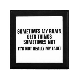 Gehirn erhält Sachen Erinnerungskiste