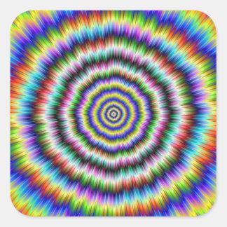 Gehirn-harte Nuss Quadratischer Aufkleber